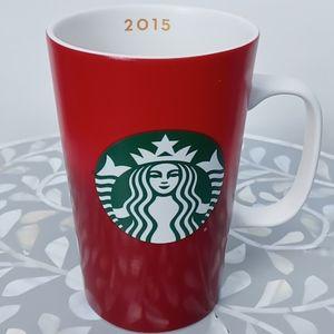 ❤ 2015 Starbucks Red Gradient Coffee Mug Cup 16 oz